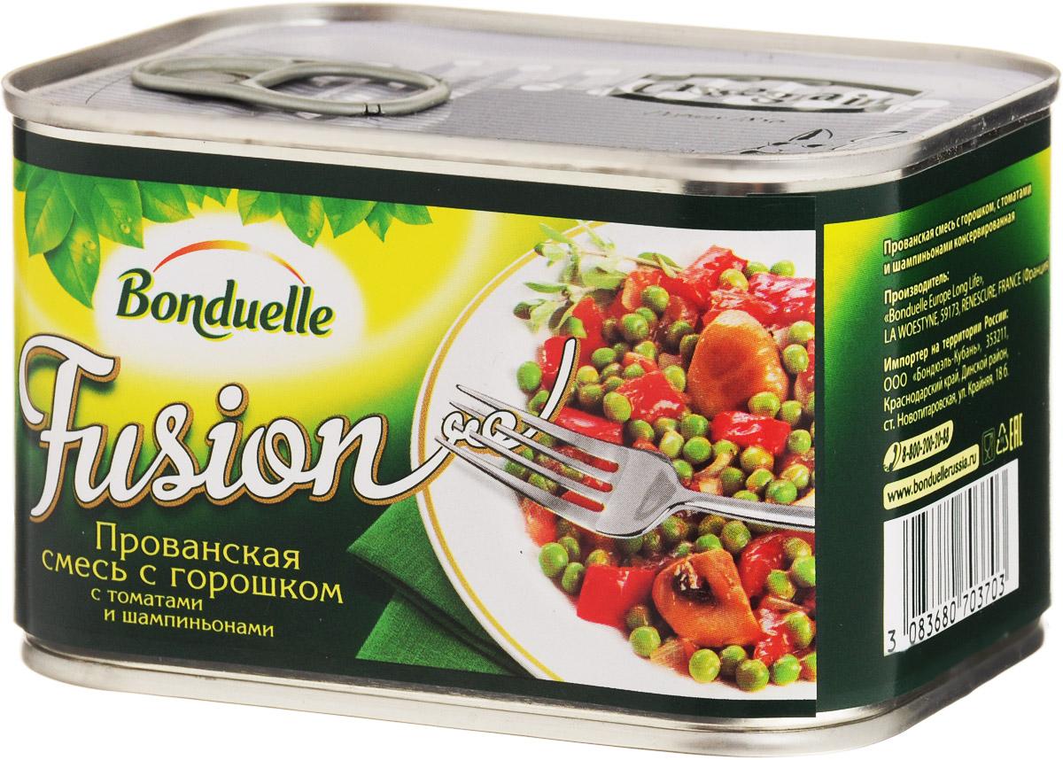 Bonduelle Прованская смесь с горошком с томатами и шампиньонами, 375 г bonduelle фьюжн горошек зеленый по парижски 400 г
