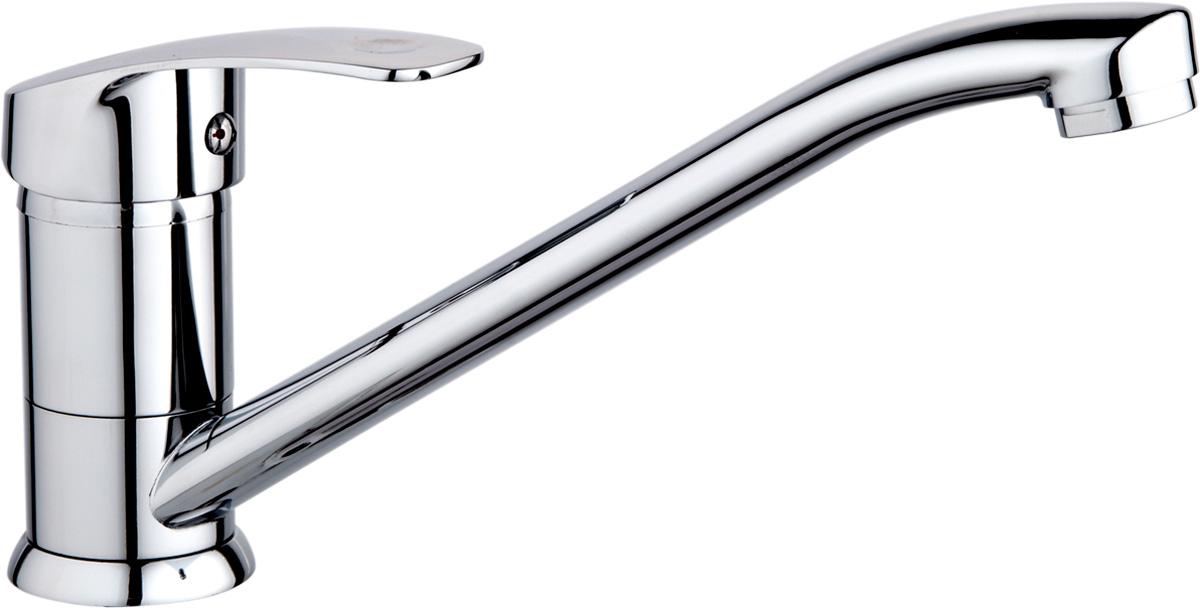 Смеситель РМС, с длинным поворотным изливом. SL85-004-25SL85-004-25Смеситель РМС устанавливается на кухонную мойку. Изделие изготовлено из высококачественной первичной латуни, прочной, безопасной и стойкой к коррозии. В комплекте гибкая подводка.Картридж: 35 мм.Аэратор: пластиковый.