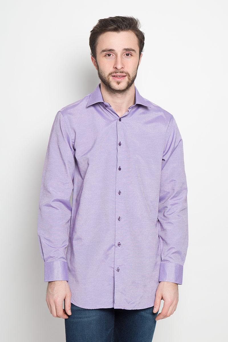 Рубашка мужская Imperator, цвет: сиреневый. Argento 16. Размер 44-178/186 (56-178/186)