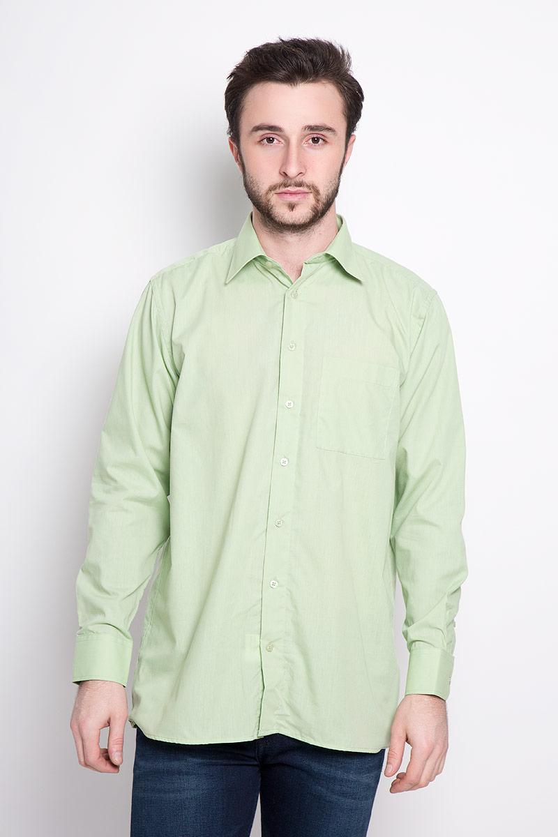Рубашка мужская Imperator, цвет: светло-зеленый. Mineral Green. Размер 40-178/186 (48-178/186)Mineral GreenОтличная мужская рубашка, выполненная из хлопка с добавлением полиэстера. Рубашка прямого кроя с длинными рукавами и отложным воротником застегивается на пуговицы. Модель дополнена одним нагрудным карманом.