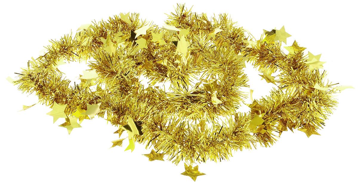 Мишура новогодняя B&H Звездочки, цвет: золотой, 2 мBH1050_Звездочки_золотойМишура новогодняя B&H Звездочки, выполненная из ПВХ, поможет вам украсить свой дом к предстоящим праздникам. Новогодняя елка с таким украшением станет еще наряднее. Новогодней мишурой можно украсить все, что угодно - елку, квартиру, дачу, офис - как внутри, так и снаружи. Можно сложить новогодние поздравления, буквы и цифры, мишурой можно украсить и дополнить гирлянды, можно выделить дверные колонны, оплести дверные проемы.