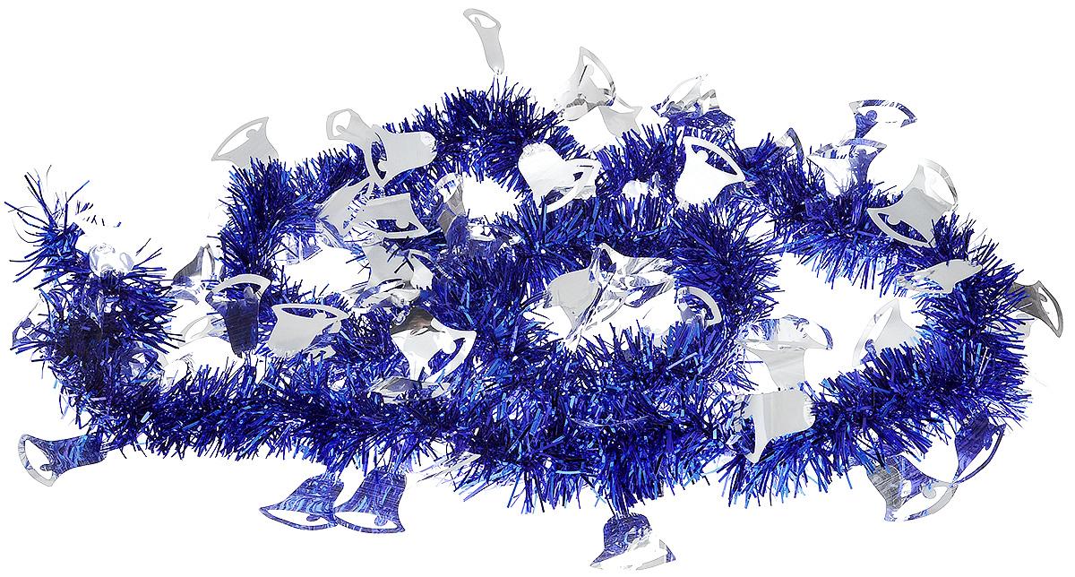 Мишура новогодняя B&H Колокольчики, цвет: синий, серебристый, 2 мBH1050_Колокольчики_синий, серебристыйМишура новогодняя B&H Колокольчики, выполненная из ПВХ, поможет вам украсить свой дом к предстоящим праздникам. Новогодняя елка с таким украшением станет еще наряднее. Новогодней мишурой можно украсить все, что угодно - елку, квартиру, дачу, офис - как внутри, так и снаружи. Можно сложить новогодние поздравления, буквы и цифры, мишурой можно украсить и дополнить гирлянды, можно выделить дверные колонны, оплести дверные проемы.