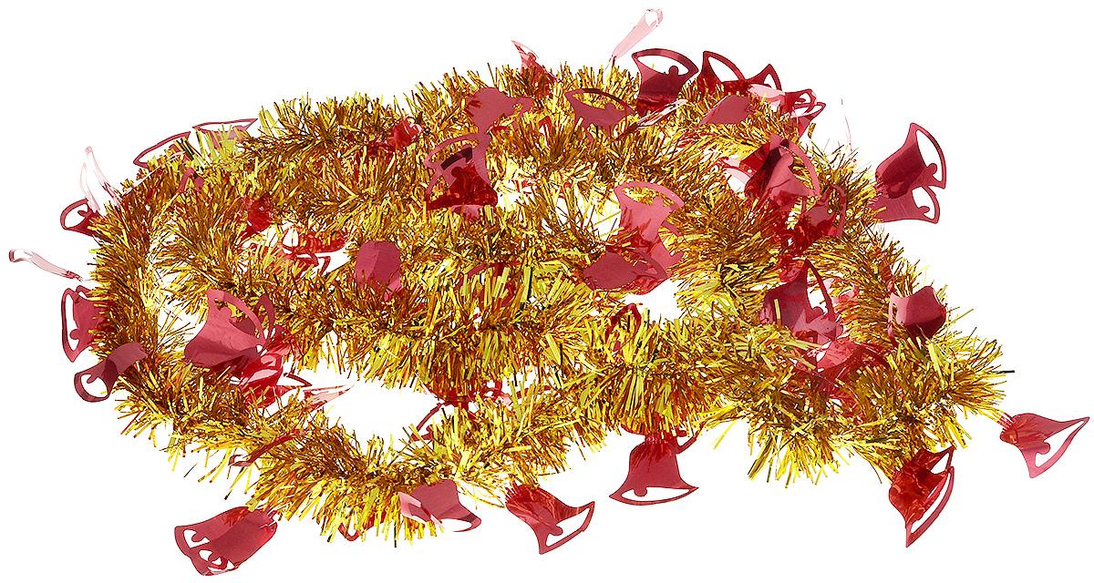 Мишура новогодняя B&H Колокольчики, цвет: золотой, красный, 2 мBH1050_Колокольчики_золотой, красныйМишура новогодняя B&H Колокольчики, выполненная из ПВХ, поможет вам украсить свой дом к предстоящим праздникам. Новогодняя елка с таким украшением станет еще наряднее. Новогодней мишурой можно украсить все, что угодно - елку, квартиру, дачу, офис - как внутри, так и снаружи. Можно сложить новогодние поздравления, буквы и цифры, мишурой можно украсить и дополнить гирлянды, можно выделить дверные колонны, оплести дверные проемы.