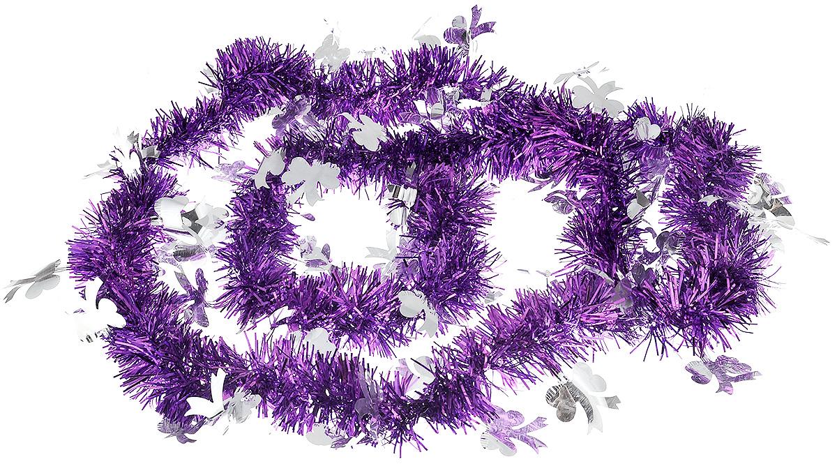 Мишура новогодняя B&H Бантики, цвет: фиолетовый, серебристый, 2 мBH1050_Бантики_фиолетовый, серебристыйМишура новогодняя B&H Бантики, выполненная из ПВХ, поможет вам украсить свой дом к предстоящим праздникам. Новогодняя елка с таким украшением станет еще наряднее. Новогодней мишурой можно украсить все, что угодно - елку, квартиру, дачу, офис - как внутри, так и снаружи. Можно сложить новогодние поздравления, буквы и цифры, мишурой можно украсить и дополнить гирлянды, можно выделить дверные колонны, оплести дверные проемы.