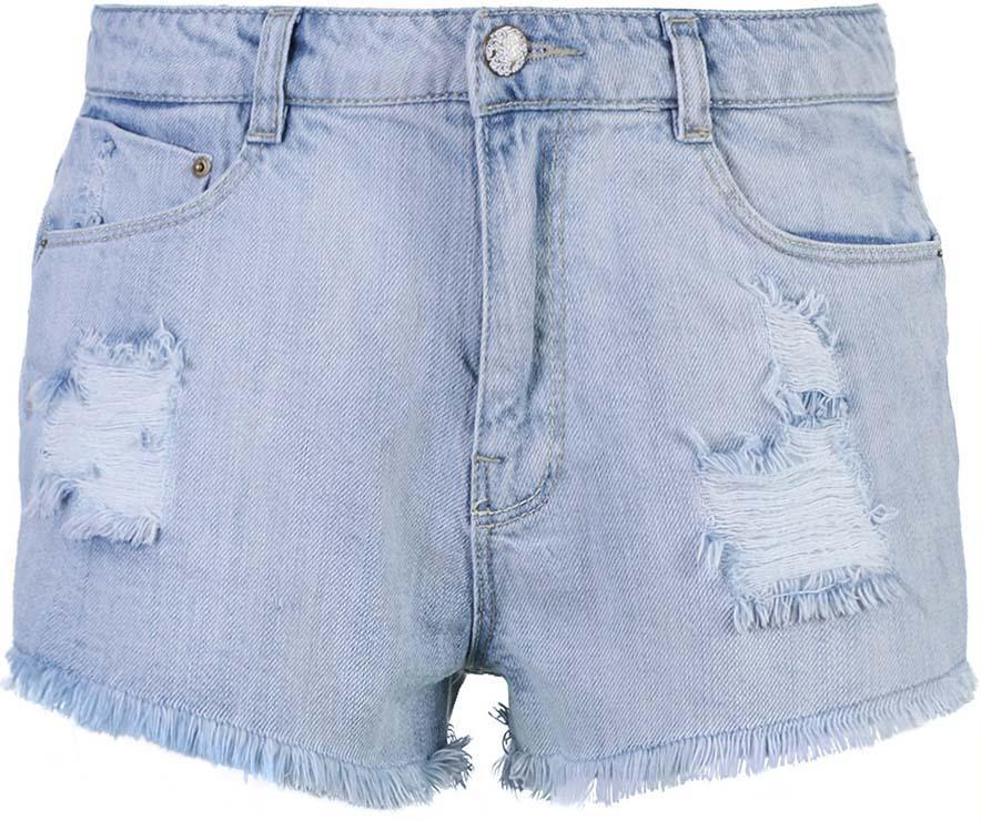 Шорты женские oodji Collection, цвет: голубой джинс. 22807016/42559/7000W. Размер 29 (48)22807016/42559/7000WСтильные женские шорты oodji Ultra изготовлены из натурального хлопка. Шорты застегиваются на металлическую пуговицу и имеют ширинку на застежке-молнии. На поясе предусмотрены шлевки для ремня. Спереди расположены два втачных кармана и один маленький накладной кармашек, сзади - два накладных кармана.