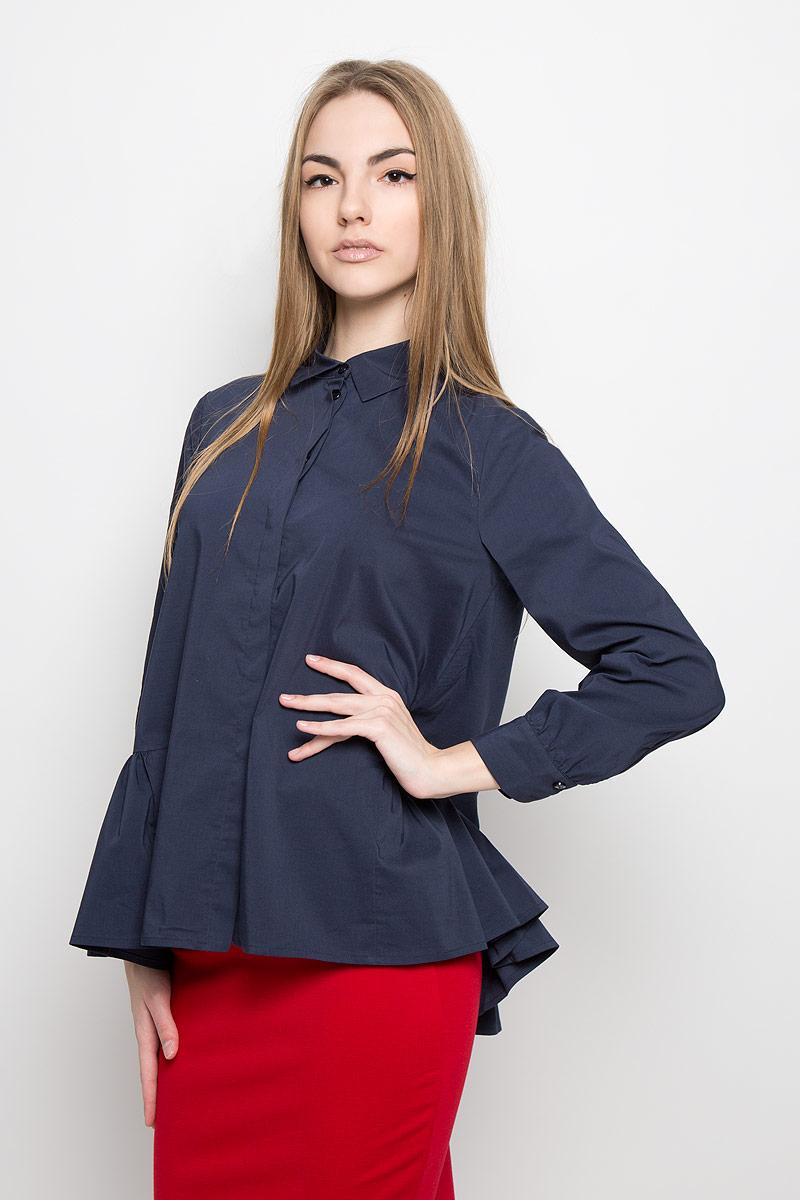Блузка женская Ruxara, цвет: темно-синий. 1201541. Размер 48 блуза ruxara ruxara mp002xw0zzjf