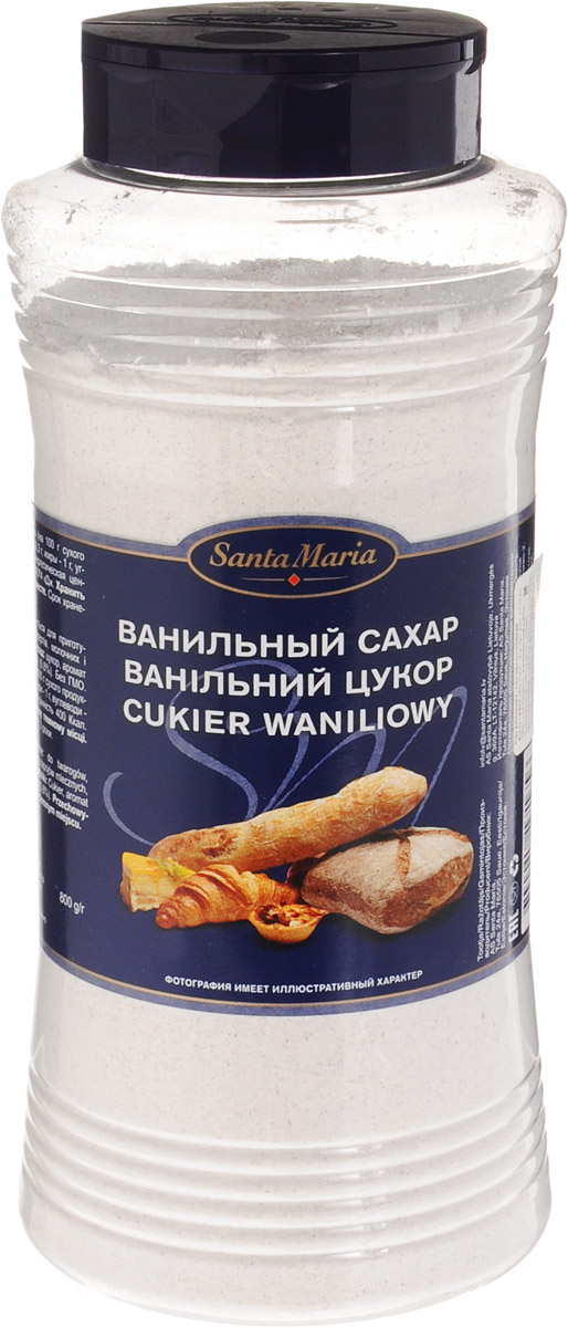 Santa Maria Ванильный сахар, 800 г santa maria стеклянная вермишель 100 г