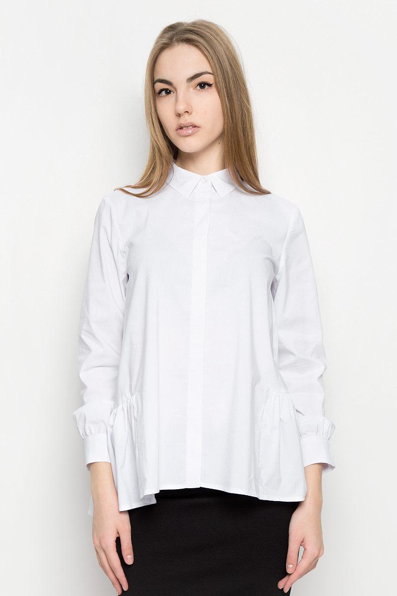 Блузка женская Ruxara, цвет: белый. 1201541. Размер 44 блуза ruxara ruxara mp002xw0zzjf