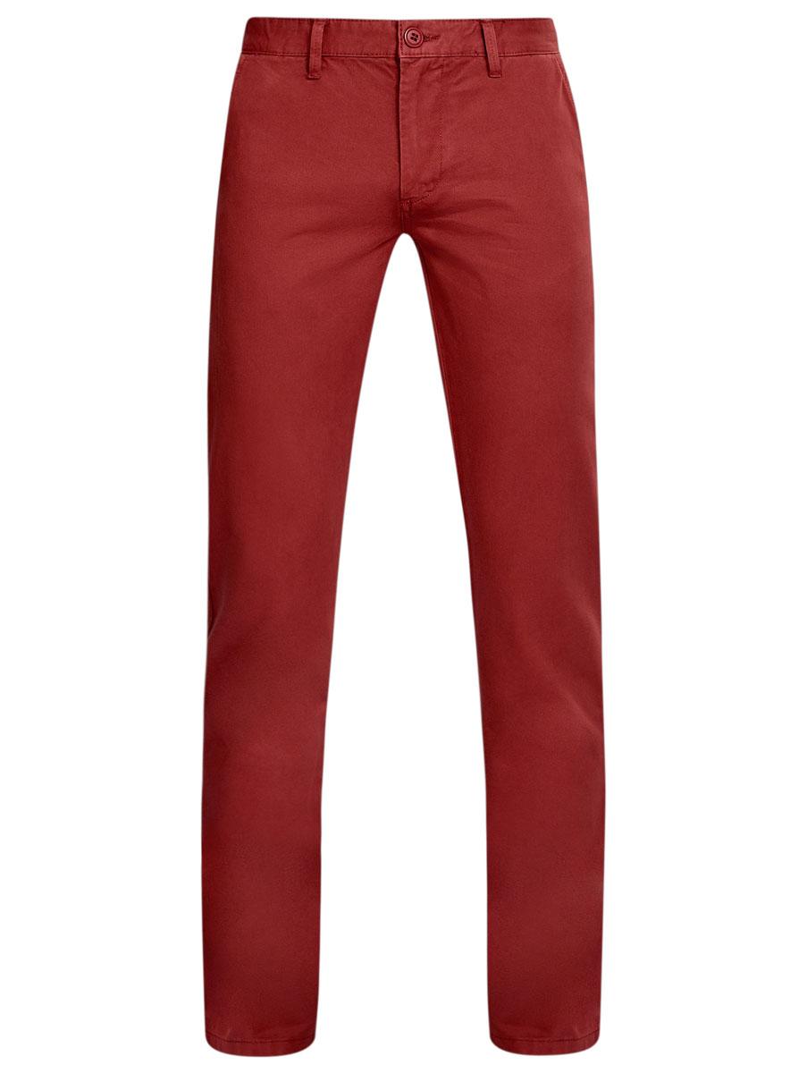 Брюки мужские oodji Basic, цвет: бордовый. 2B150007M/39138N/3100W. Размер 46-182 (54-182)2B150007M/39138N/3100WМужские брюки oodji Basic выполнены из натурального хлопка. Модель застегивается на пуговицу в поясе и ширинку на молнии. Имеются шлевки для ремня. Спереди расположены два втачных кармана и прорезной кармашек, сзади - два прорезных кармана на пуговицах.