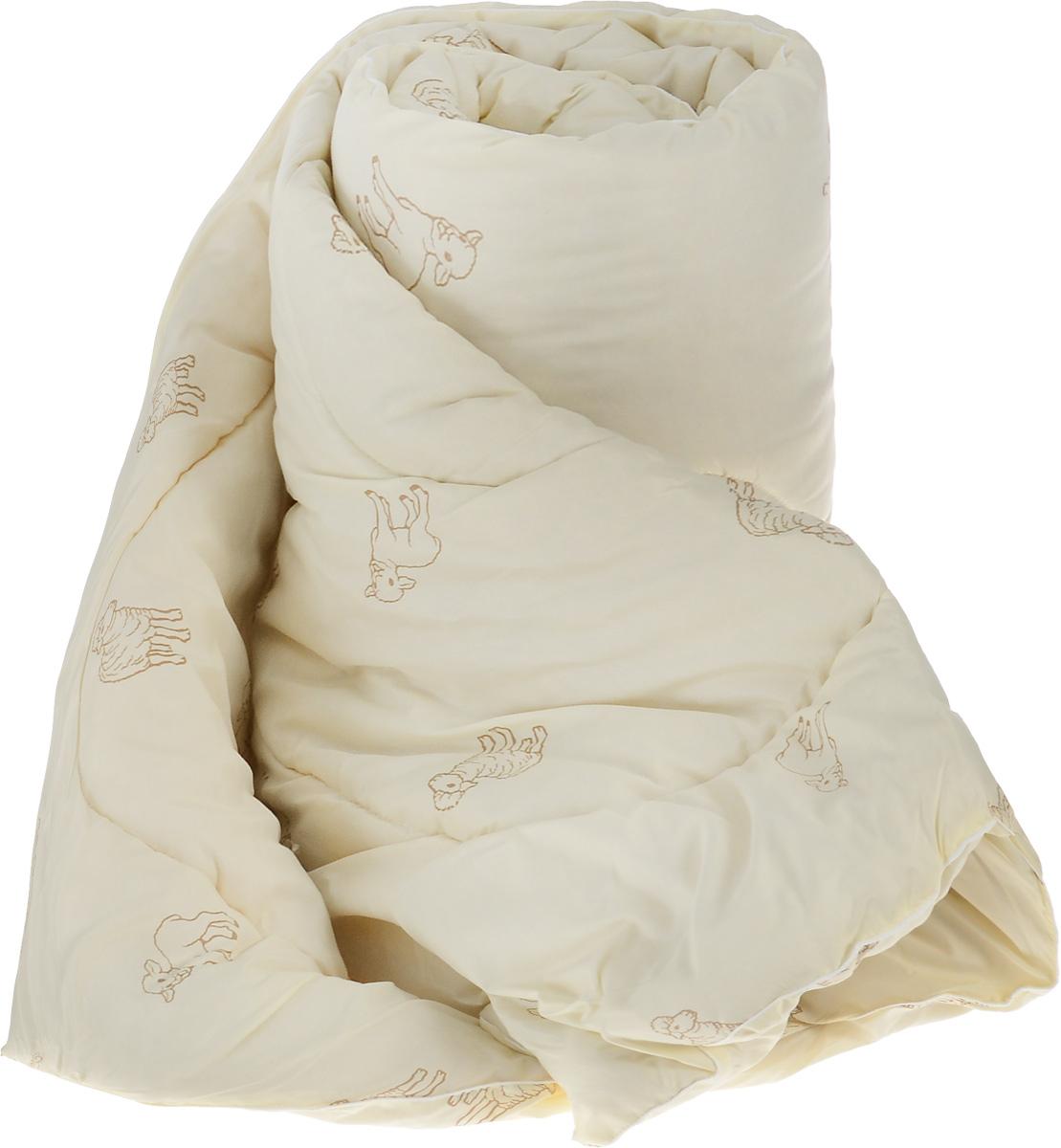 Одеяло теплое Легкие сны Золотое руно,наполнитель: овечья шерсть, 172 x 205 см172(32)05-ОШПТеплое стеганое одеяло Легкие сны Золотое руно с наполнителем из овечьей шерсти расслабит, снимет усталость и подарит вам спокойный и здоровый сон.Шерстяные волокна, получаемые из овечьей шерсти, имеют полую структуру, придающую изделиям высокую износоустойчивость. Чехол одеяла, выполненный из смесовой ткани отлично пропускает воздух, создавая эффект сухого тепла. Одеяло простегано. Стежка надежно удерживает наполнитель внутри и не позволяет ему скатываться.Рекомендации по уходу: Отбеливание, стирка, барабанная сушка и глажка запрещены. Разрешается химчистка. Уважаемые клиенты!Обращаем ваше внимание на цветовой ассортимент товара. Поставка осуществляется в зависимости от наличия на складе.