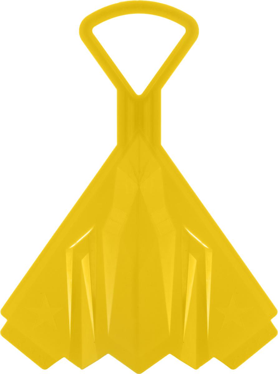 Санки-ледянки Престиж Самолет, цвет: желтый, 42 х 32 см гирлянда алфавит винни happy birthday