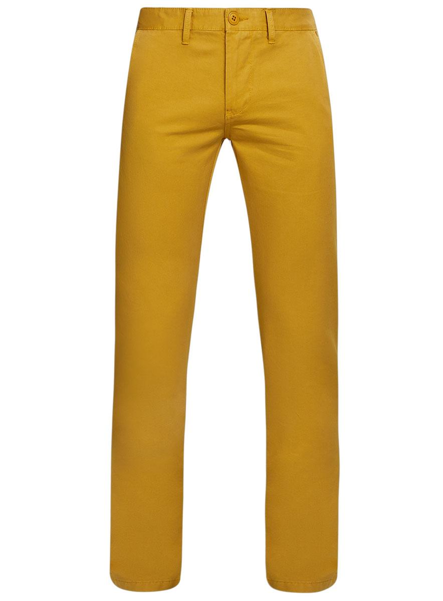 Брюки мужские oodji Basic, цвет: горчичный. 2B150007M/39138N/5700N. Размер 44-182 (52-182)2B150007M/39138N/5700NМужские брюки oodji Basic выполнены из натурального хлопка. Модель застегивается на пуговицу в поясе и ширинку на молнии. Имеются шлевки для ремня. Спереди расположены два втачных кармана и прорезной кармашек, сзади - два прорезных кармана на пуговицах.