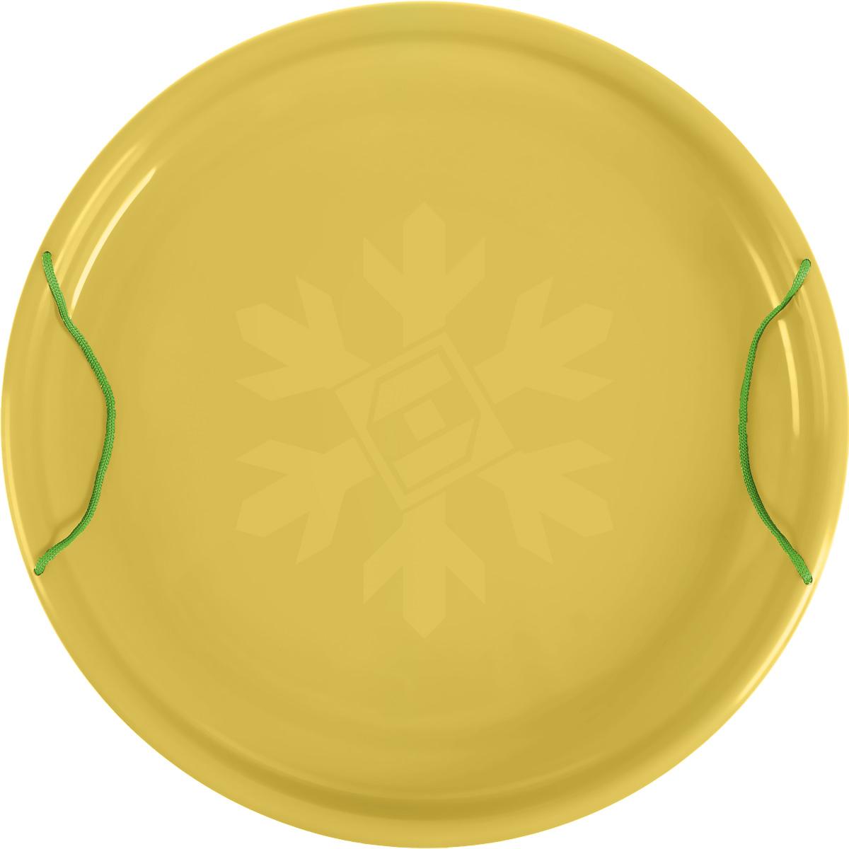 """Санки-ледянки Престиж """"Экстрим"""", цвет: желтый, диаметр 53 см"""