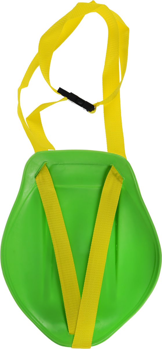 "Санки-ледянки ""Престиж"", с ремнем, цвет: зеленый, 31 х 26,5 х 8 см"