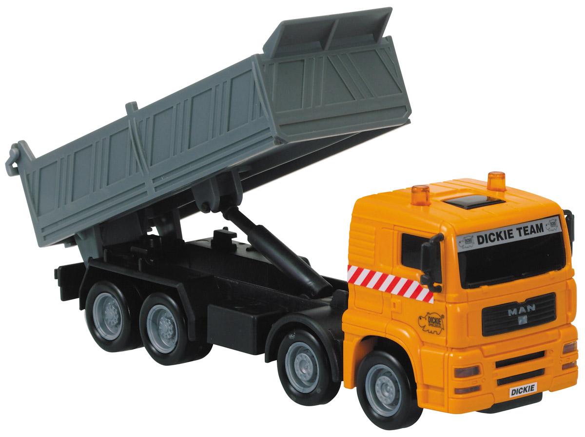 Dickie Toys Самосвал MAN цвет оранжевый серый dickie toys 3113001 sideswipe