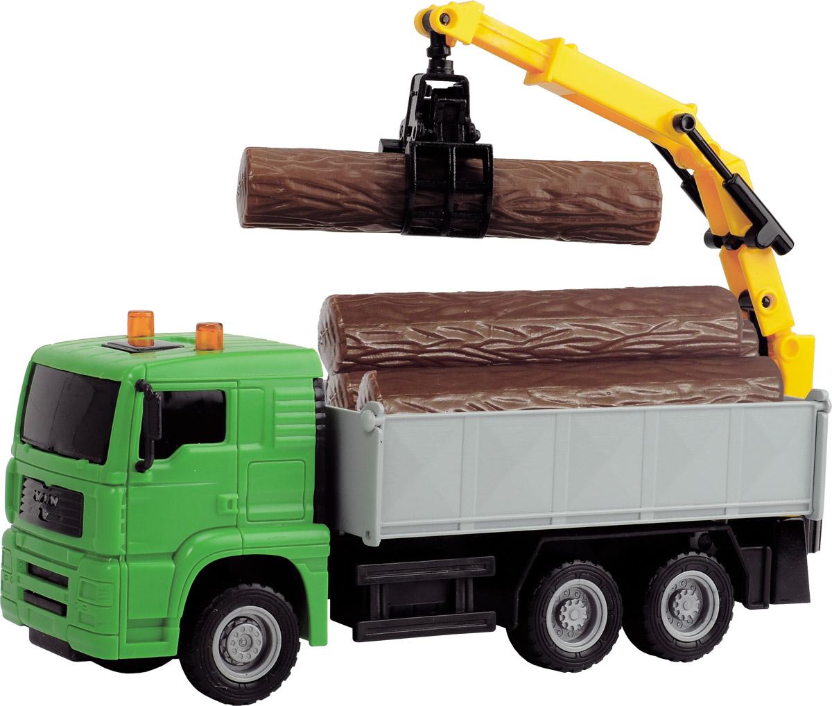 Dickie Toys Автокран Heavy City Truck цвет зеленый dickie toys мусоровоз heavy city truck