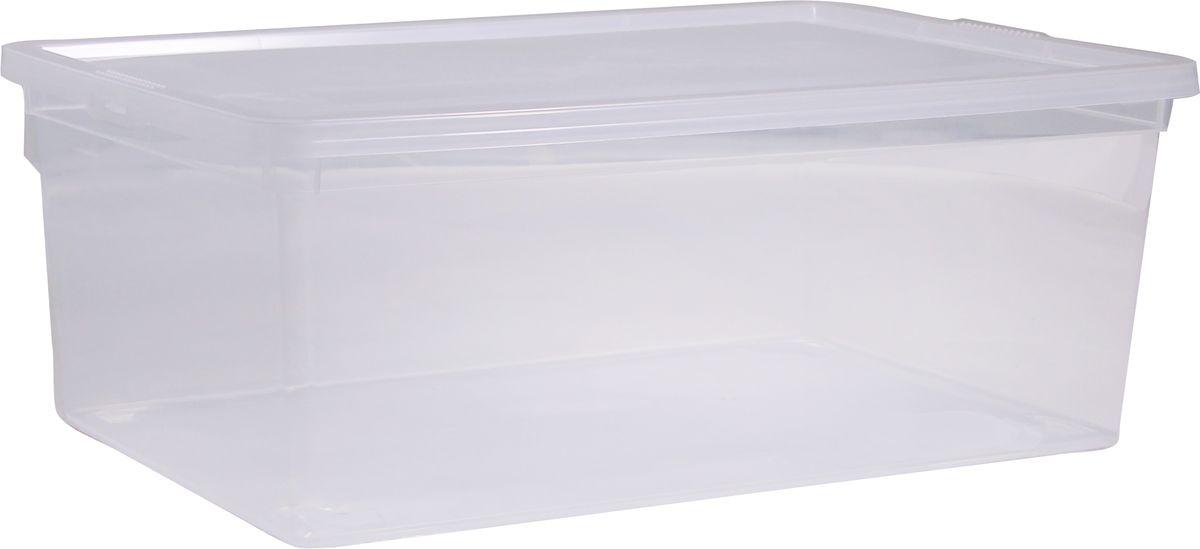Ящик Idea, цвет: прозрачный, 25 лМ 2353Ящик Idea выполнен из прочного пластика и предназначен для хранения различныхпредметов. Вместительный ящик плотно закрывается при помощи крышки.Вместительный ящик позволит сохранить нужные вещи в чистоте и порядке, а герметичнаякрышка предотвратит случайное открывание, защитит содержимое от пыли и грязи.Размер ящика (с учетом крышки): 53 х 38 см х 17 см.Объем ящика: 25 л.