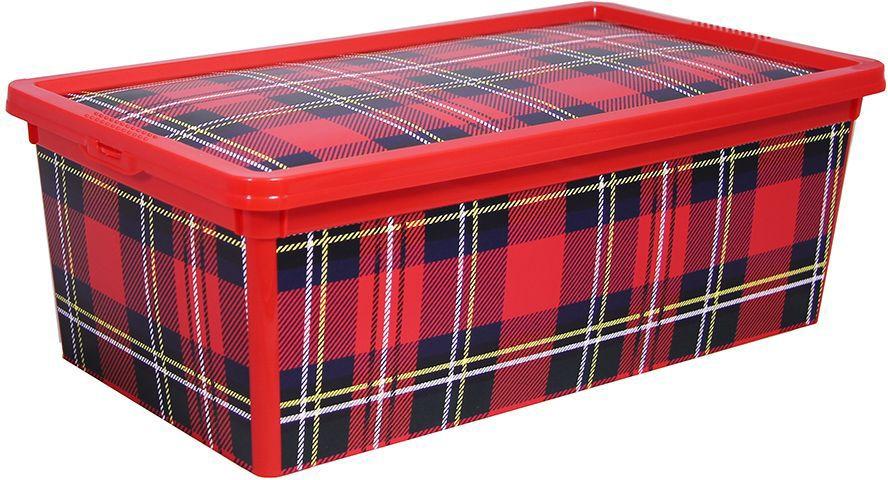 Ящик Idea Деко. Клетка, 5,5 л idea ящик для игрушек моби цвет бирюзовый 41 5 х 60 х 32 см