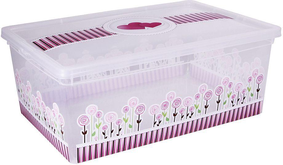 Ящик для хранения Idea Деко. Цветы, 34 х 19 х 12 см доска разделочная idea голубые цветы 24 см х 15 см