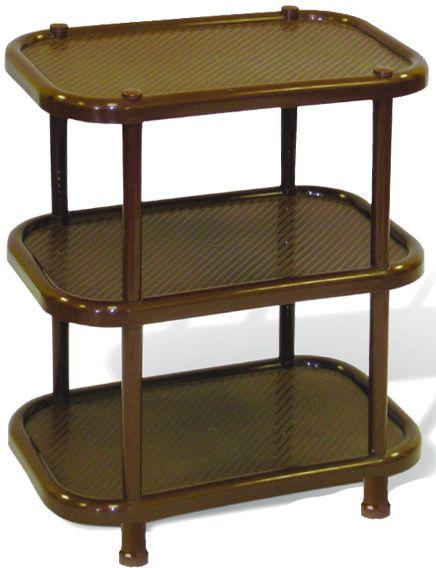 Этажерка для обуви Idea, 3-секционная, цвет: коричневый, 30,7 х 49,2 х 51 см этажерка полимербыт флер 3 секционная на колесиках цвет голубой 47 5 х 22 5 х 63 см
