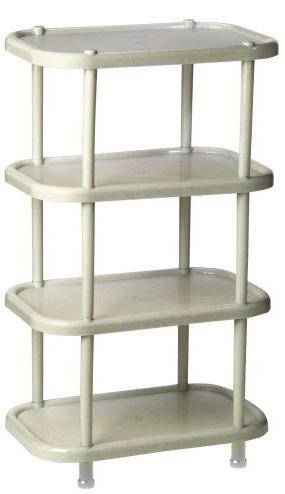 Полка овальная Idea, цвет: мраморный, 30,7 х 49,2 х 53 см, 4 секции. М 2717М 2717Этажерка Idea с 4 полками выполнена из высококачественного пластика и предназначена для хранения обуви в прихожей. На каждой полке можно разместить по две пары обуви.Очень удобная и компактная, но в тоже время вместительная, этажерка прекрасно впишется в пространство вашей прихожей. Легко собирается и разбирается.
