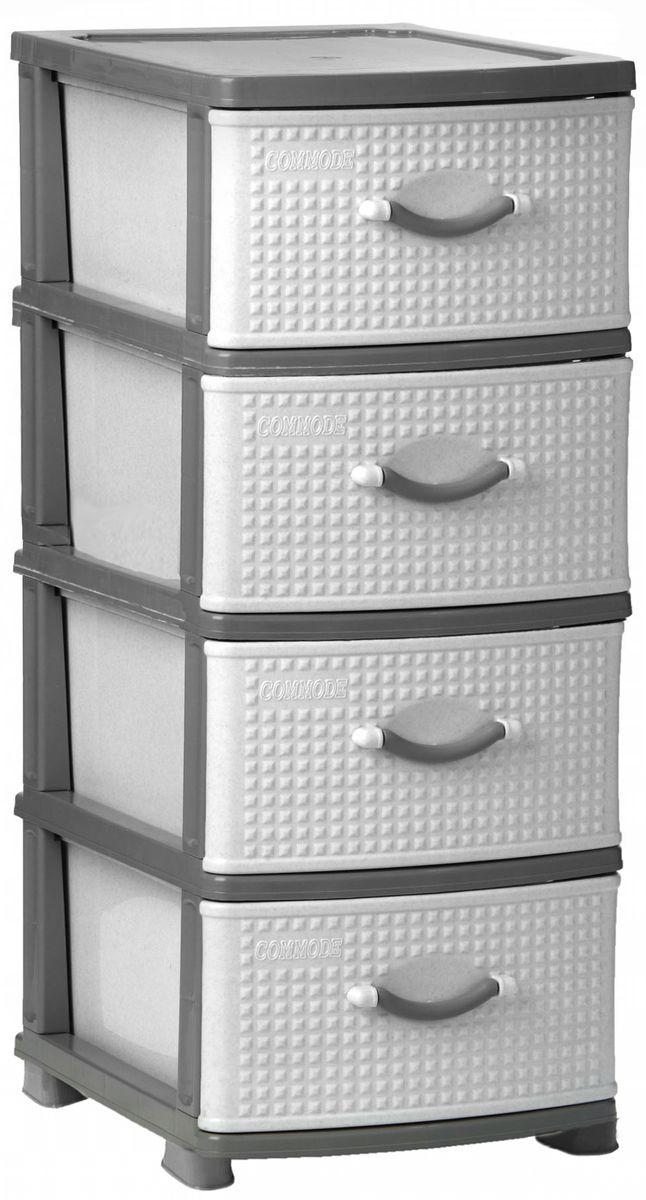 Комод Idea Классик, цвет: серый мрамор, 37,5 х 48 х 92 см, 4 секцииМ 2784Комод Idea Классик изготовлен из высококачественного пластика. Ящики стилизованы под дерево. Комод предназначен для хранения различных вещей и состоит из 4 вместительных выдвижных секций. Такой необычный комод надежно защитит вещи от загрязнений, пыли и моли, а также позволит вам хранить их компактно и с удобством.Размер комода: 37,5 х 48 х 92 см.
