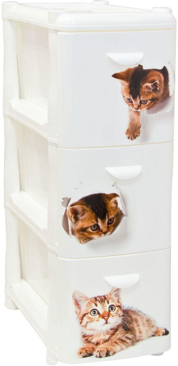 Комод Idea Альт Деко. Котята, 26,2 х 50,2 х 40 см, 3 секцииМ 2807Комод Idea Альт Деко изготовлен из высококачественного пластика. Ящики оформлены изображением котят. Комод предназначен для хранения различных вещей и состоит из 3 вместительных выдвижных секций. Такой необычный и яркий комод надежно защитит вещи от загрязнений, пыли и моли, а также позволит вам хранить их компактно и с удобством.Размер комода: 26,2 х 50,2 х 40 см.
