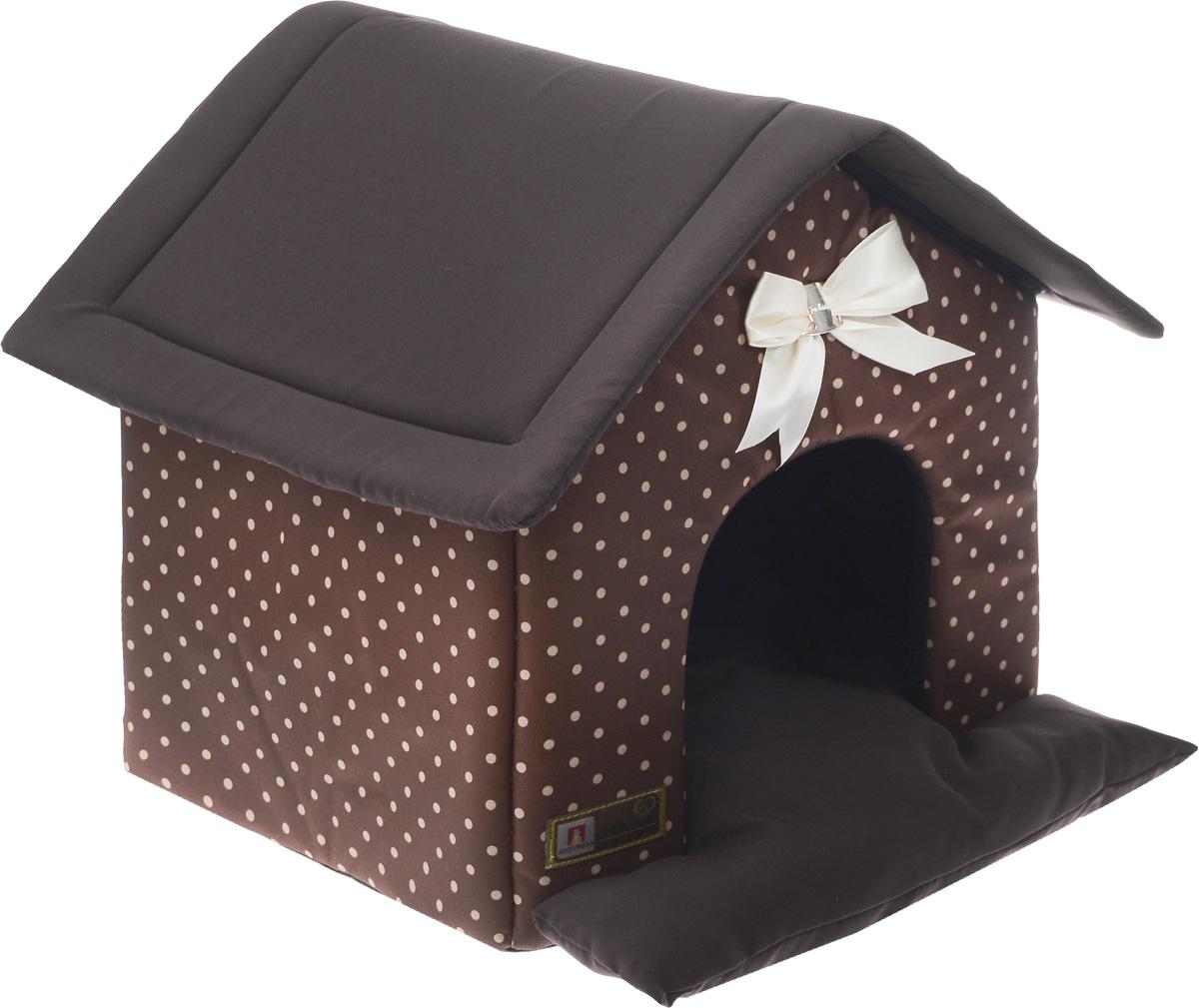 Лежак для собак и кошек Зоогурман Ампир. Горох, 45 х 40 х 45 см зоогурман консервы для собак зоогурман спецмяс деликатес желудочки куриные 250 г