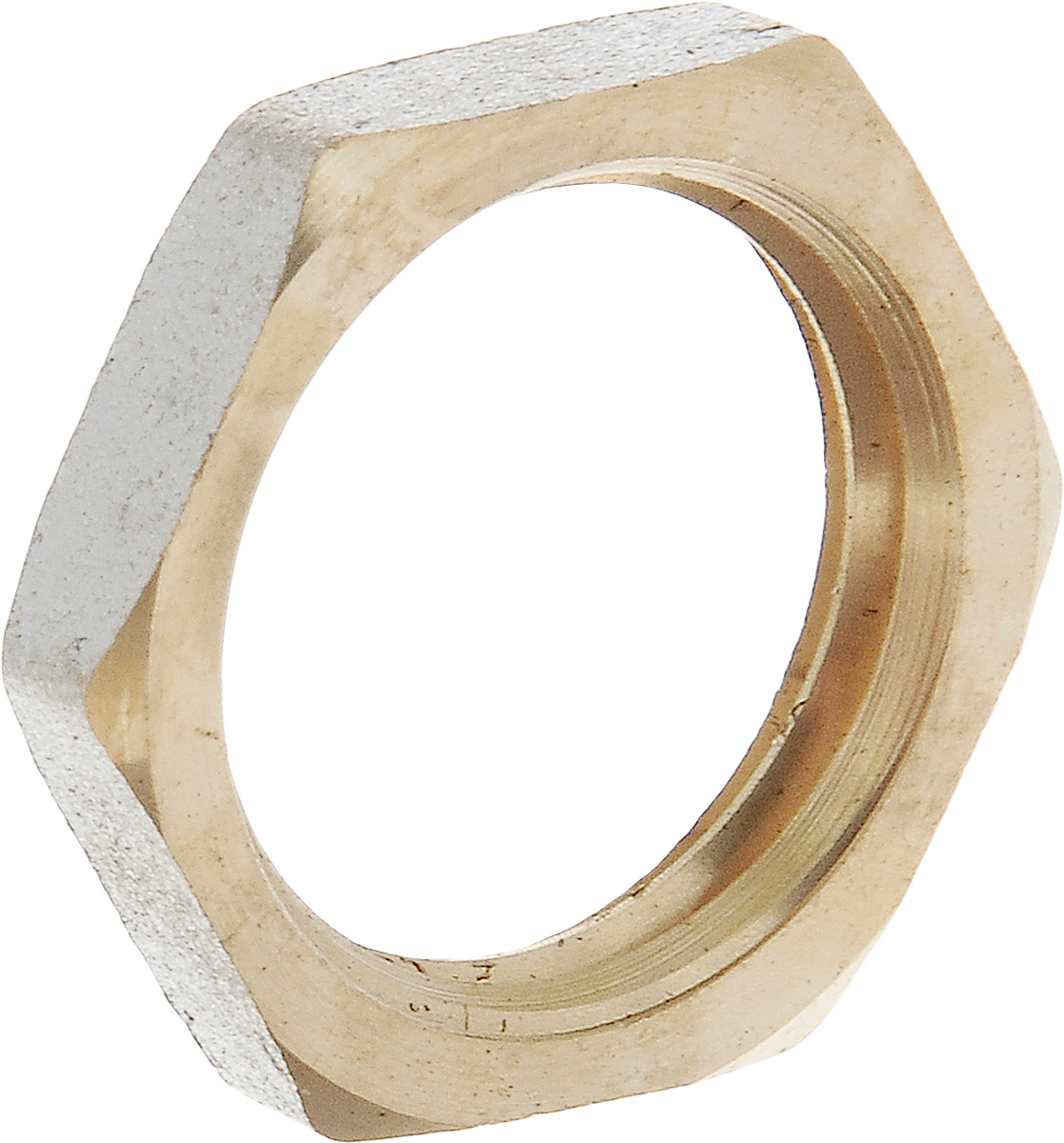 Контргайка U-Tec, с фаской, 1/234854Контргайка с фаской U-Tec - это добавочная гайка, создающая дополнительное натяжение и трение в резьбовом соединении, затрудняя тем самым самоотвинчивание. Изделие изготовлено из прочной и долговечной латуни. Никелированное покрытие на внешнем корпусе защищает изделие от окисления. Продукция под торговой маркой U-Tec прошла все необходимые испытания и по праву может считаться надежной.