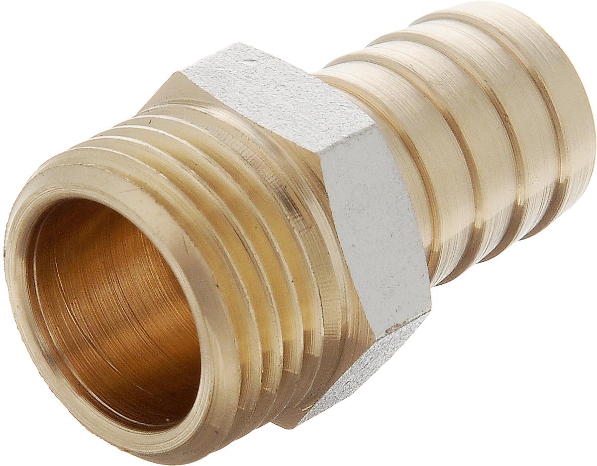 Переходник U-Tec, для резинового шланга, наружная резьба 1/2 х 1638451Переходник U-Tec предназначен для соединения резьбовых соединений с резиновым шлангом. Изделие изготовлено из прочной и долговечной латуни. Никелированное покрытие на внешнем корпусе защищает изделие от окисления. Продукция под торговой маркой U-Tec прошла все необходимые испытания и по праву может считаться надежной.