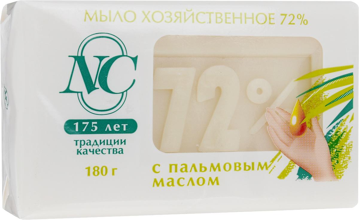 Мыло хозяйственное 72%, с пальмовым маслом, 180 г11144Мыло хозяйственное 72% подходит для ручной стирки изделий из всех типов тканей.Обладает мягким воздействием на кожу.Дает обильную пену даже в холодной воде. Подходит для стирки, уборки, мытья посуды и мытья рук. Имеет в составе косметическую добавку, которая увлажняет кожу рук. Товар сертифицирован.