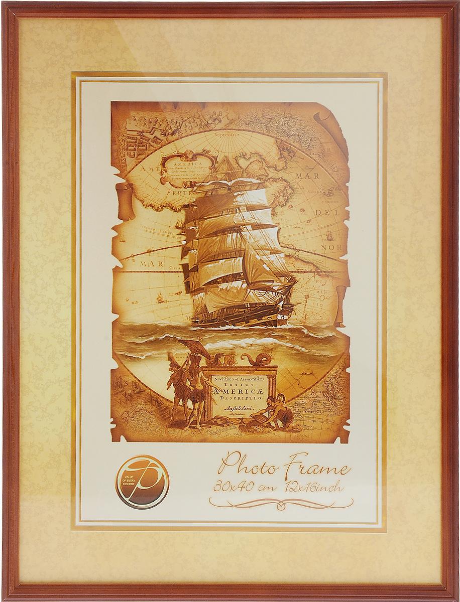 Фоторамка Pioneer Nora, цвет: красно-коричневый, 30 x 40 см6272003_красно-коричневыйФоторамка Pioneer Nora выполнена из дерева и стекла, защищающего фотографию. Задняя сторона рамки оснащена специальными зажимами, благодаря которым фотография хорошо фиксируется. Также изделие имеет крепления для подвешивания на стену. Такая фоторамка поможет вам оригинально и стильно дополнить интерьер помещения, а также позволит сохранить память о дорогих вам людях и интересных событиях вашей жизни.Размер фоторамки: 32 х 42 см.Размер фотографии: 30 х 40 см.