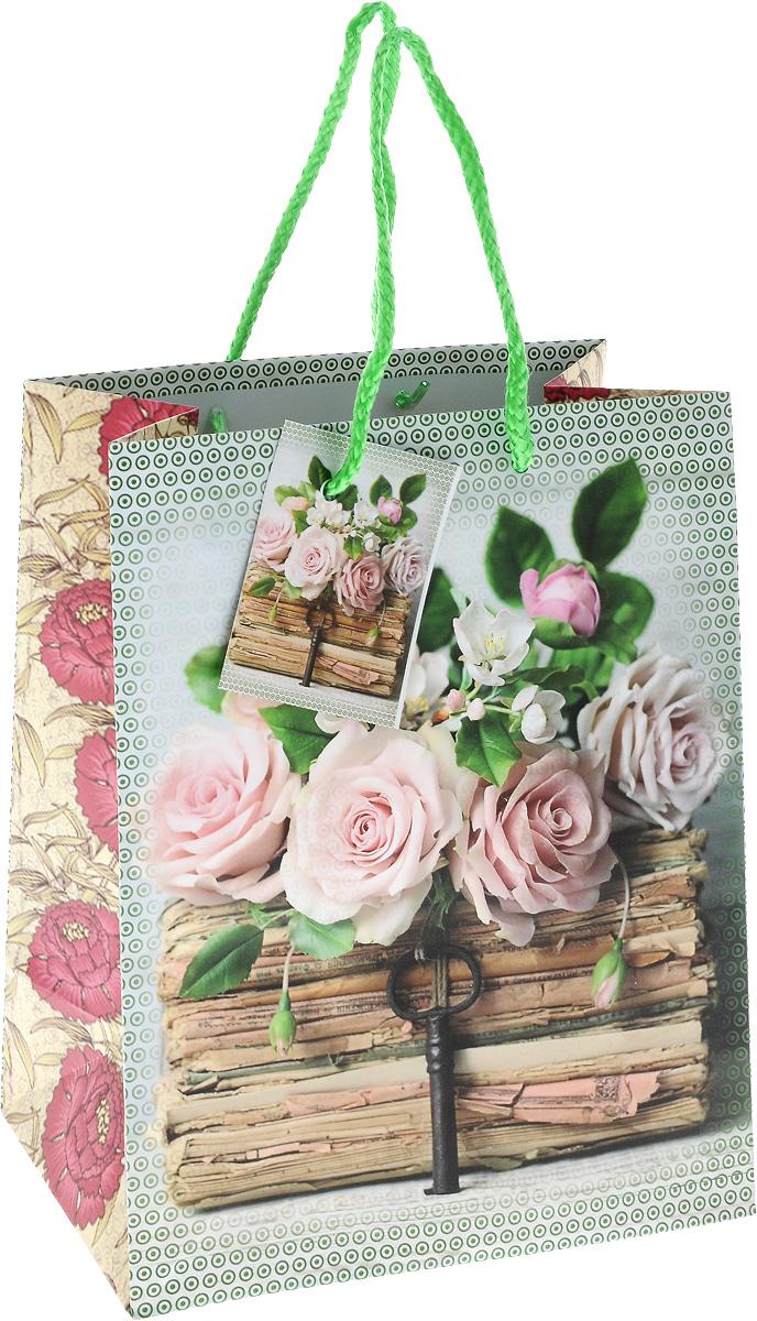 Пакет подарочный Magic Home Книги и розы, 17,8 х 22,9 х 9,8 см44174Подарочный пакет Magic Time Книги и розы, изготовленный из плотной бумаги, станет незаменимым дополнением к выбранному подарку. Для удобной переноски на пакете имеются две ручки из шнурков.Подарок, преподнесенный в оригинальной упаковке, всегда будет самым эффектным и запоминающимся. Окружите близких людей вниманием и заботой, вручив презент в нарядном, праздничном оформлении.