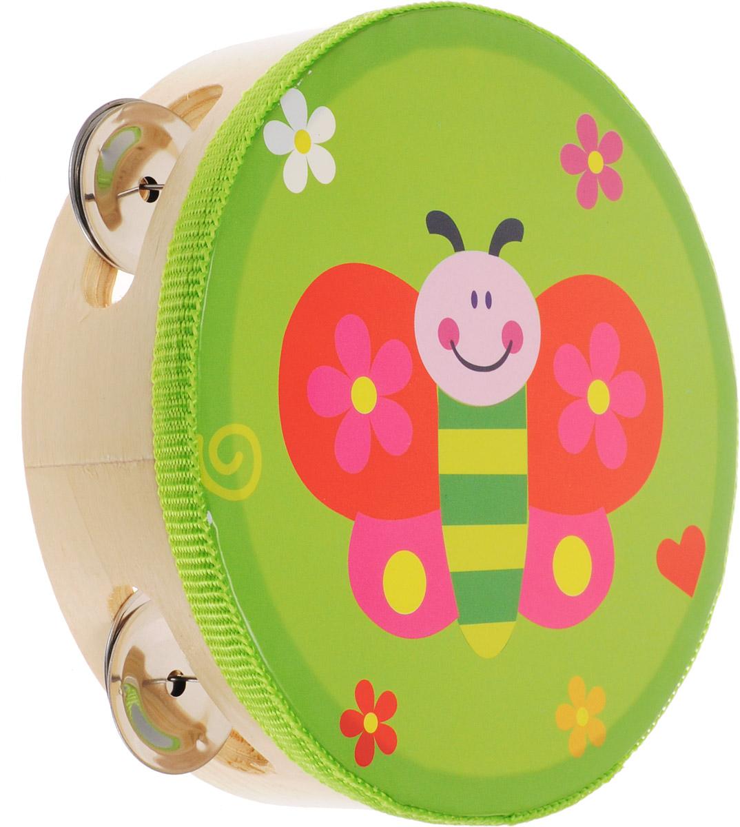 Мир деревянных игрушек Бубен Бабочка скрипка бубен и утюг
