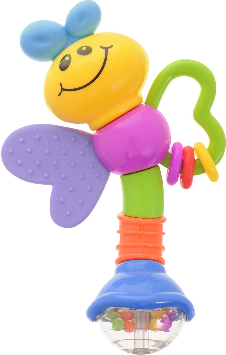 Умка Погремушка Пчелка цвет сиреневый синий умка фотоаппарат чебурашки умка