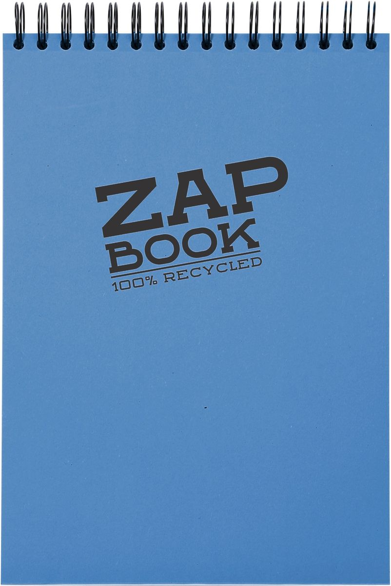 "Блокнот Clairefontaine ""Zap Book"", цвет: синий, формат A6, 160 листов. 3356С"