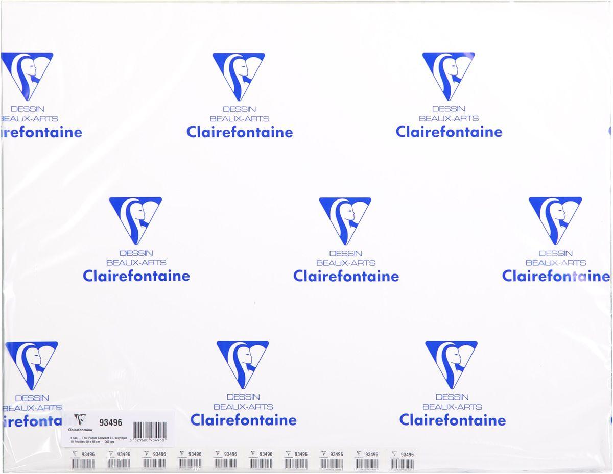 Бумага Clairefontaine Acrylic, для акрила и гуаши, 50 х 65 см, 10 листов93496СБумага AСRYLIC для акрила и гуаши (50х65, 360г, 10л) 93496С