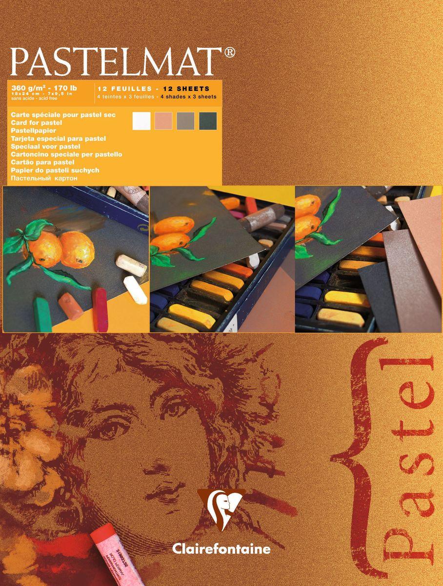 Альбом Clairefontaine Pastelmat, для пастели, 18 х 24 см, 12 листов. 96005С96005САльбом Clairefontaine Pastelmat состоит из 12 листов высококачественной бумаги 4 цветов (Коричневый, Сиенна, Антрацит, Белый). Благодаря мелкозернистой поверхности данная бумага идеально подходит для рисования пастелью.Твердая подложка позволяет использовать альбом вне класса или дома.Рисование в таких альбомах доставит максимальноеудовольствие художникам любого возраста.