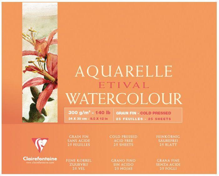 Альбом Clairefontaine  Etival , 24 х 30 см, 25 листов. 96471С -  Бумага и картон