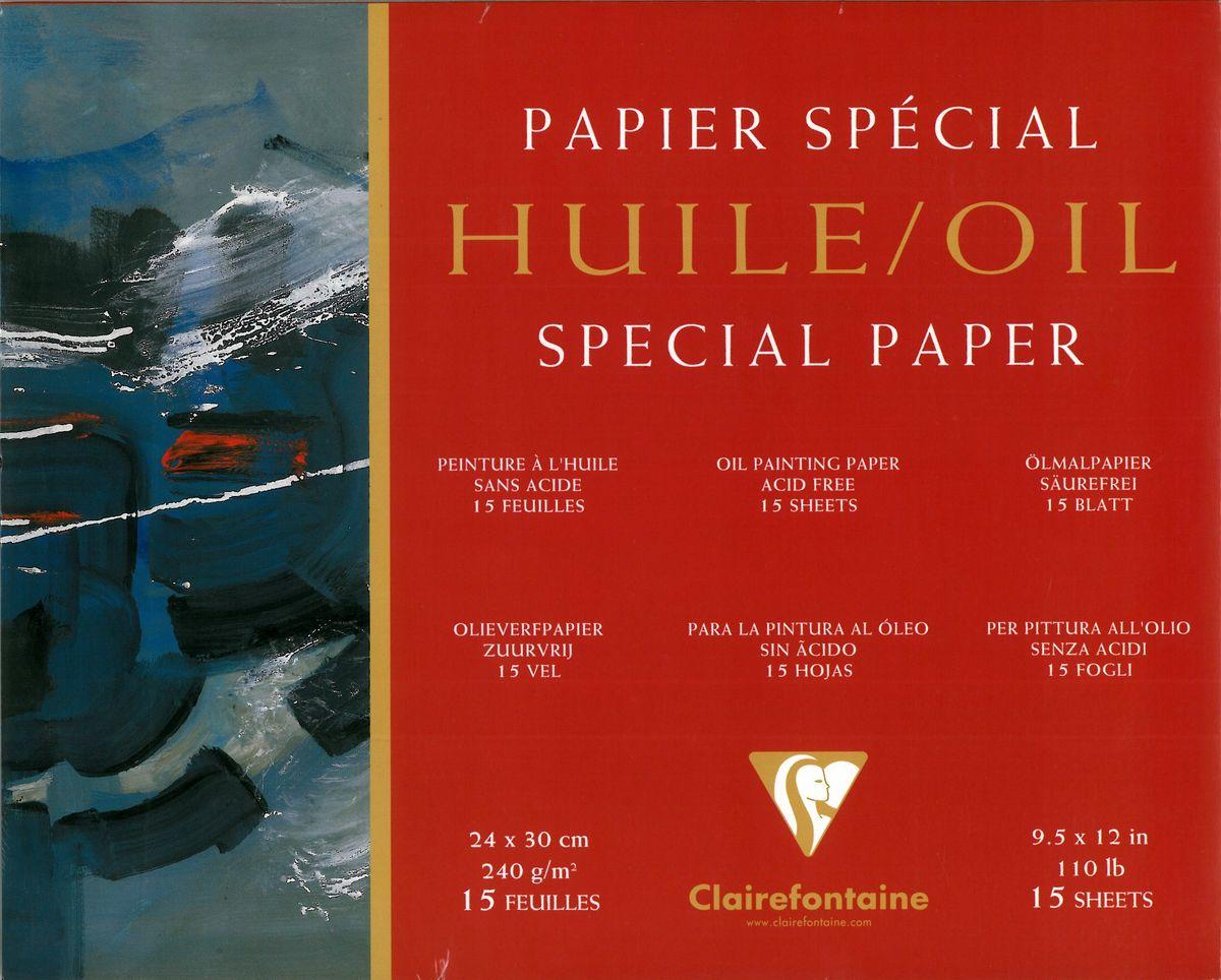 Альбом Clairefontaine  Oil , для масла, 24 х 30 см, 15 листов -  Бумага и картон