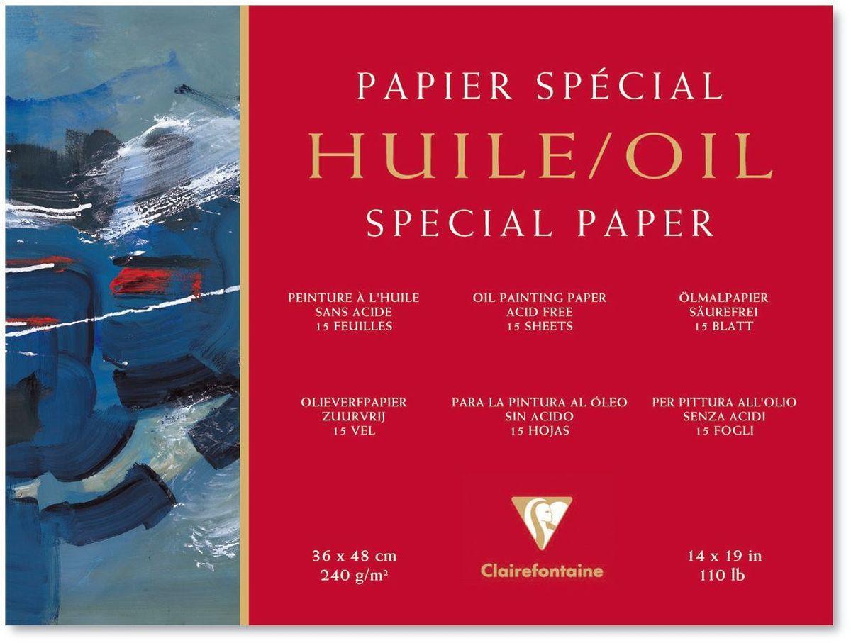 Альбом Clairefontaine  Oil , для масла, 36 х 48 см, 15 листов -  Бумага и картон