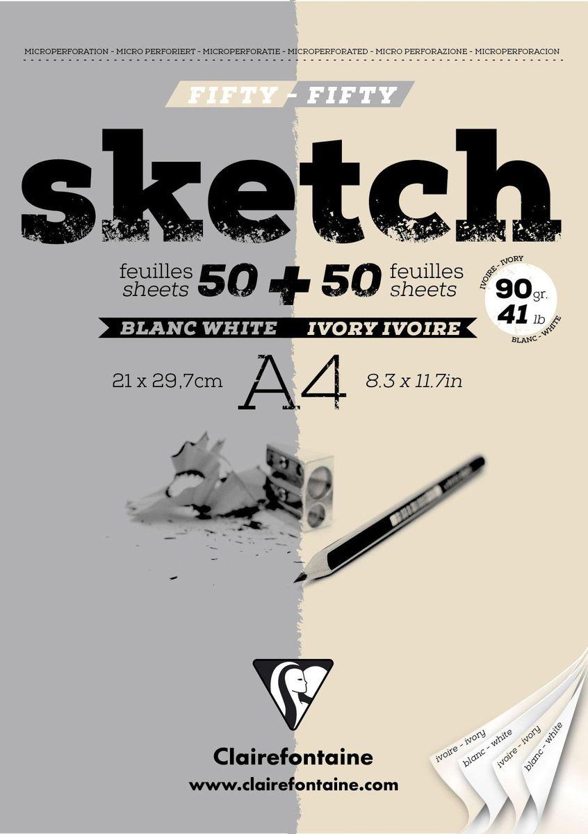 Блокнот Clairefontaine Sketch, для сухих техник, цвет: серый, бежевый, формат A4, 100 листов96609СОригинальный блокнот Clairefontaine идеально подойдет для памятных записей, любимых стихов, рисунков и многого другого. Плотная обложкапредохраняет листы от порчи изамятия. Такой блокнот станет забавным и практичным подарком - он не затеряется среди бумаг, и долгое время будет вызывать улыбку окружающих.