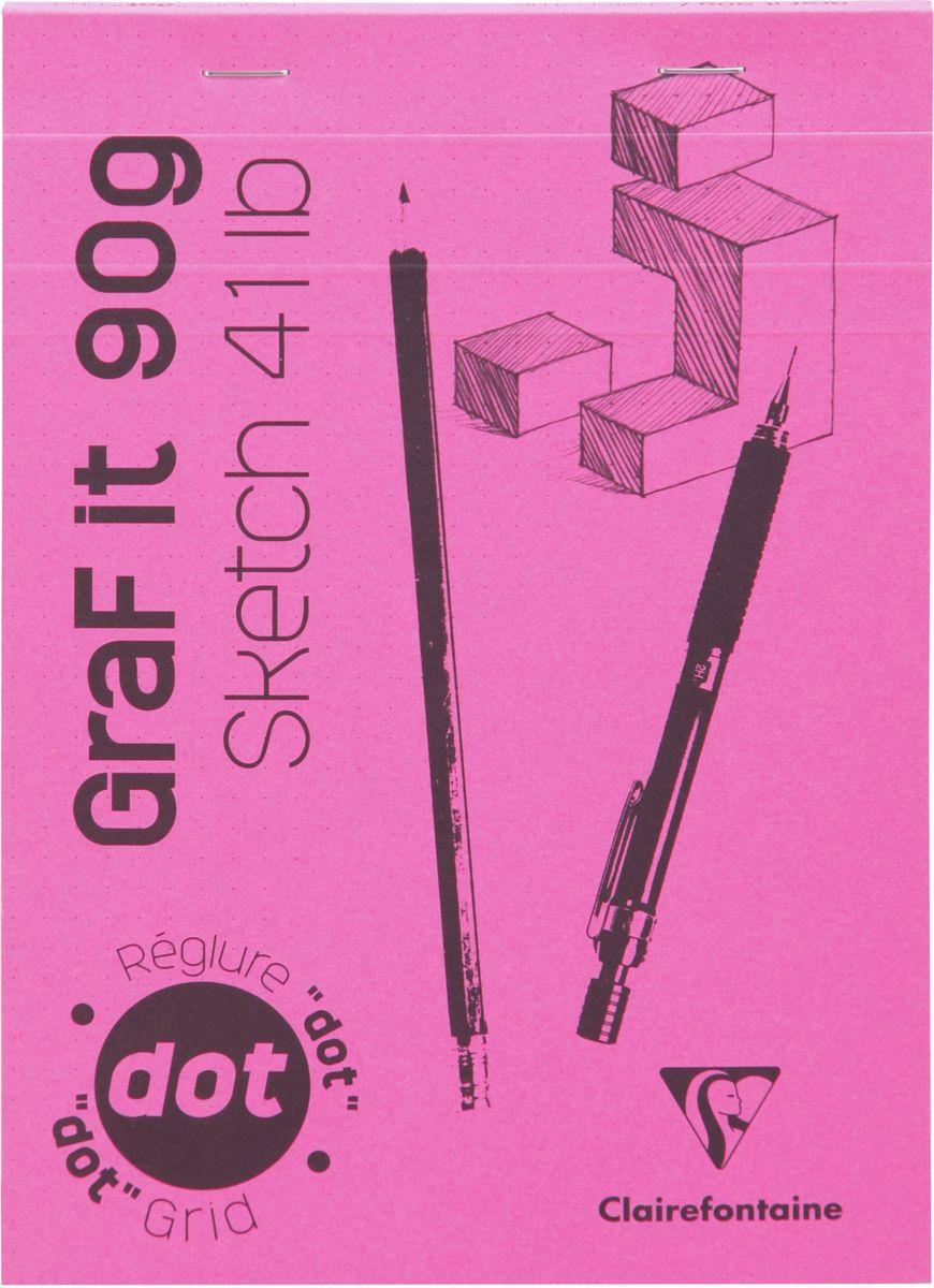 Блокнот Clairefontaine Graf It. Dot Grid, для сухих техник, с перфорацией, цвет: розовый, формат A5, 80 листов96651СОригинальный блокнот Clairefontaine идеально подойдет для памятных записей, любимых стихов, рисунков и многого другого. Плотная обложкапредохраняет листы от порчи изамятия. Такой блокнот станет забавным и практичным подарком - он не затеряется среди бумаг, и долгое время будет вызывать улыбку окружающих.