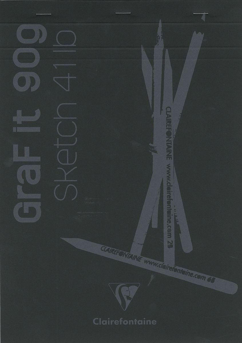 Блокнот Clairefontaine Graf It, для сухих техник, с перфорацией, цвет: черный, формат A4, 80 листов96841СОригинальный блокнот Clairefontaine идеально подойдет для памятных записей, любимых стихов, рисунков и многого другого. Плотная обложкапредохраняет листы от порчи изамятия. Такой блокнот станет забавным и практичным подарком - он не затеряется среди бумаг, и долгое время будет вызывать улыбку окружающих.