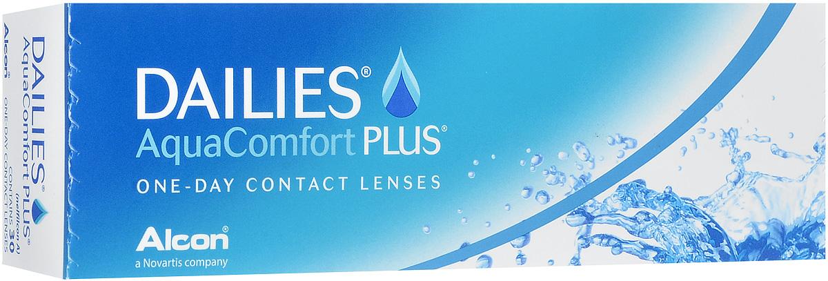 Alcon-CIBA Vision контактные линзы Dailies AquaComfort Plus (30шт / 8.7 / 14.0 / -5.00)38457Dailies AquaComfort Plus - это одни из самых популярных однодневных линз производства компании Ciba Vision. Эти линзы пользуются огромной популярностью во всем мире и являются на сегодняшний день самыми безопасными контактными линзами. Изготавливаются линзы из современного, 100% безопасного материала нелфилкон А. Особенность этого материала в том, что он легко пропускает воздух и хорошо сохраняет влагу. Однодневные контактные линзы Dailies AquaComfort Plus не нуждаются в дополнительном уходе и затратах, каждый день вы надеваете свежую пару линз. Дизайн линзы биосовместимый, что гарантирует безупречный комфорт. Самое главное достоинство Dailies AquaComfort Plus - это их уникальная система увлажнения. Благодаря этой разработке линзы увлажняются тремя различными агентами. Первый компонент, ухаживающий за линзами, находится в растворе, он как бы обволакивает линзу, обеспечивая чрезвычайно комфортное надевание. Второй агент выделяется на протяжении всего дня, он непрерывно смачивает линзы. Третий - увлажняющий агент, выделяется во время моргания, благодаря ему поддерживается постоянный комфорт. Также линзы имеют УФ-фильтр, который будет заботиться о ваших глазах. Dailies AquaComfort Plus одни из лучших линз в своей категории. Всемирно известная компания Ciba Vision, создавая эти контактные линзы, попыталась учесть все потребности пациентов и ей это удалось! Характеристики:Материал: нелфилкон А. Кривизна: 8.7. Оптическая сила: - 5.00. Содержание воды: 69%. Диаметр: 14 мм. Количество линз: 30 шт. Размер упаковки: 15,5 см х 5 см х 3 см. Производитель: США. Товар сертифицирован.Контактные линзы или очки: советы офтальмологов. Статья OZON Гид