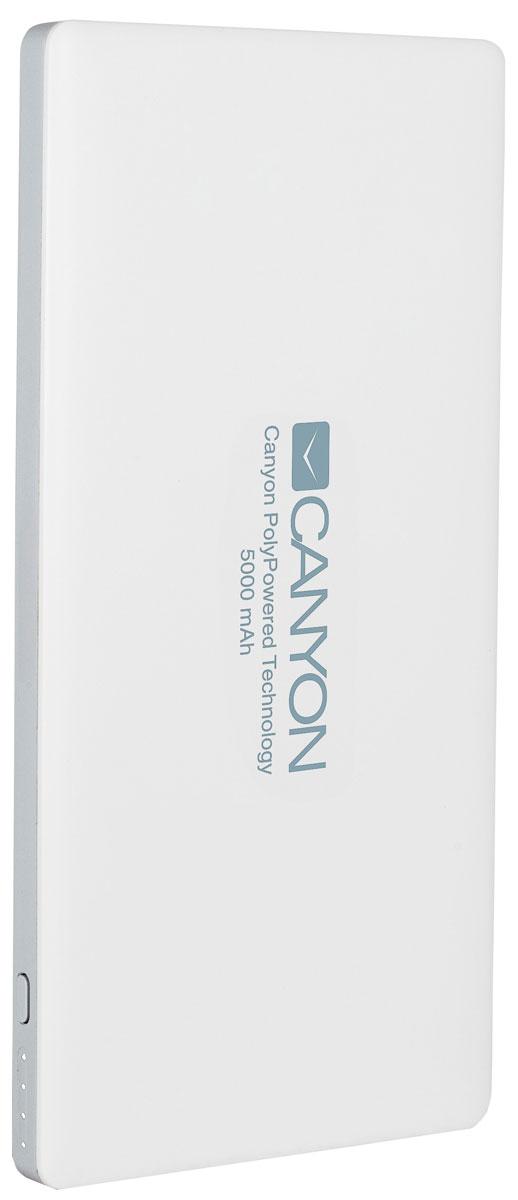 Canyon CNS-TPBP5W, White внешний аккумулятор (5000 мАч)