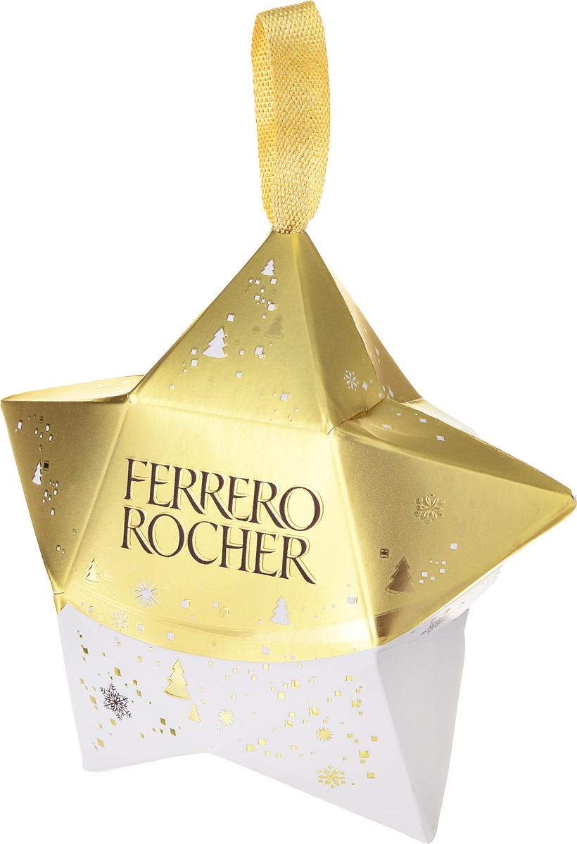 Ferrero Rocher конфеты из молочного шоколада с начинкой из крема и лесного ореха, 37,5 г (НГ звезда) сироп monin лесной орех стекло 50 мл
