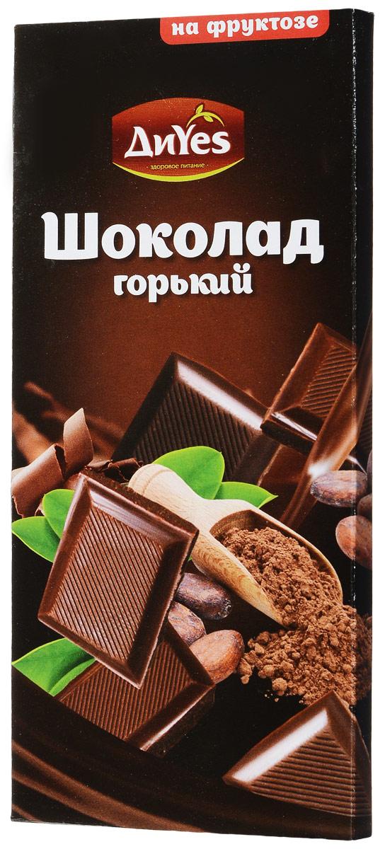ДиYes Шоколад горький на фруктозе, 100 г вафли обожайка вкус шоколад 225 г