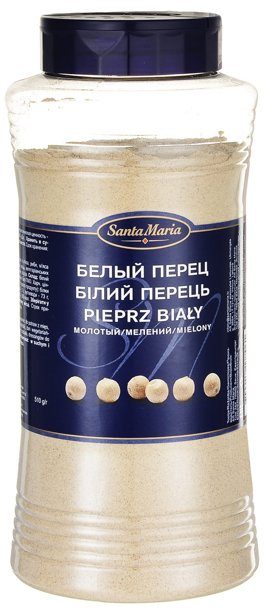 Santa Maria Белый перец молотый, 510 г santa maria белый перец целый 550 г
