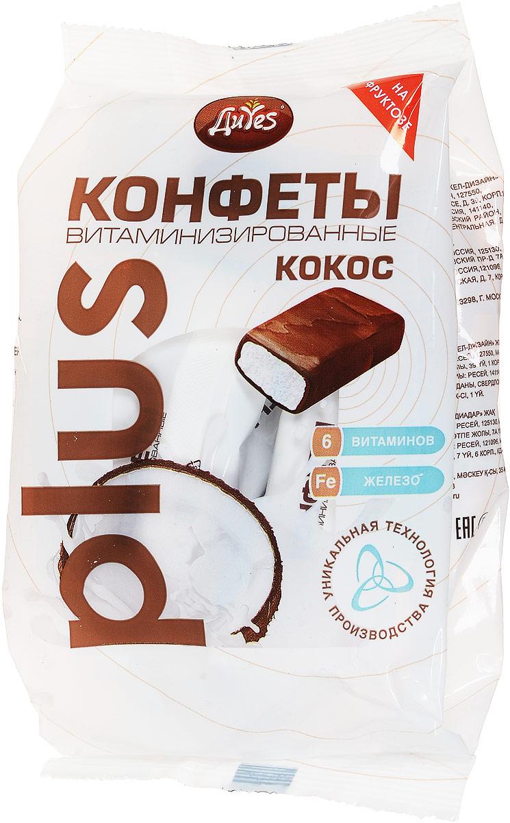 ДиYes Конфеты Кокосовые витаминизированные на фруктозе, 200 г диyes конфеты кремовые витаминизированные на фруктозе 200 г